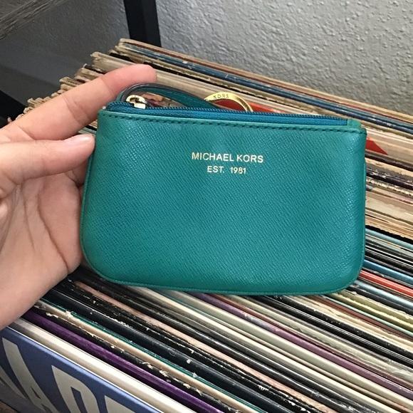 Michael Kors Handbags - Micheal Kors Teal Coin Purse